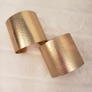 Jewelry - SET OF NEW HAMMERED CLOVER CUFFS